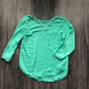 Green/ blue Aerie top